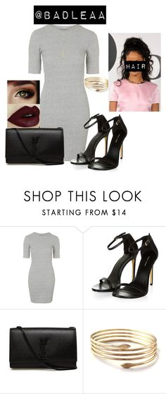 """""""Untitled #9"""" by badleaa ❤ liked on Polyvore featuring Topshop, Yves Saint Laurent and Gucci"""