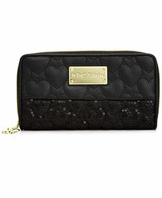 Betsey Johnson Handbag, Holiday Zip Around Wallet with Box - Handbags & Accessories - Macy's