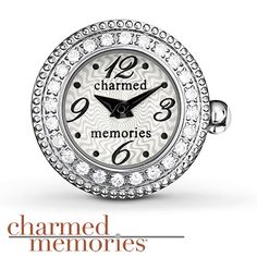 Charmed Memories Timebeads Charm White Dial