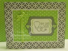 "Stampin' Up!® Simply Fabulous Simply Sent Card Kit - Tag It, Chalk Talk Framelits, Pistachio Pudding 1/8"" Taffeta Ribbon"