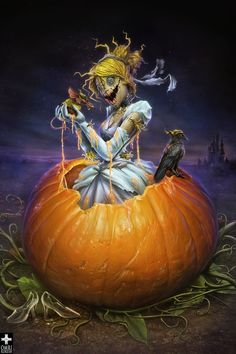 One of the Twisted Princesses. Dark Disney, Disney Love, Disney Art, Disney Girls, Disney Horror, Creepy Disney, Evil Princess, Zombie Princess, Princesas Disney Zombie