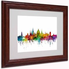 Trademark Fine Art Oxford England Skyline II Canvas Art by Michael Tompsett, Wood Frame, Size: 11 x 14, Multicolor