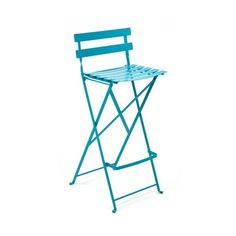Fermob Bistro Folding High Stool, Set Of 2 (445 CHF) ❤ liked on Polyvore featuring home, outdoors, patio furniture, outdoor stools, outdoor counter height bar stools, outdoor bistro furniture, outdoor folding stool and tall folding stool