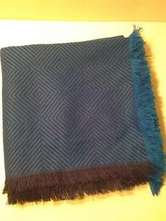 Vintage 1980's Navy & Royal Blue Shawl by LMTDInteriorConsults, $32.27