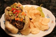 """Italian """"Beef"""" Sandwiches with Au Jus   VegWeb.com, The World's Largest Collection of Vegetarian Recipes"""