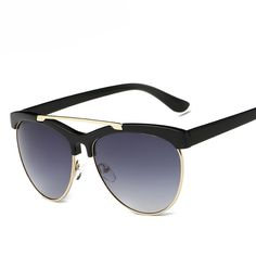 Find More Sunglasses Information about The new fashion reflective sunglasses hipster luxury brand designer sunglasses men and women fashion metal frame sunglasses,High Quality sunglasses polaroid,China sunglasses repair Suppliers, Cheap sunglasses gold from LLG on Aliexpress.com