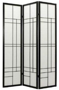 Contemporary Modern Unique Room Divider - 6ft. Eudes Japanese Shoji Folding Privacy Portable Floor Screen - 4 Colors 4 Sizes
