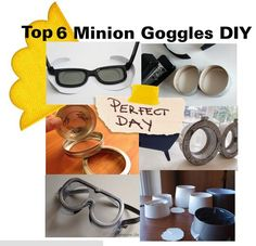 Find creative ways to make Minion Goggles this halloween!