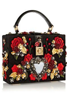 Dolce & Gabbana | Box watersnake-trimmed embellished jacquard clutch | NET-A-PORTER.COM