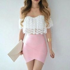 fashion, pink, and outfit image Mode, Rosa und Ausstattungsbild Teen Fashion Outfits, Mode Outfits, Skirt Outfits, Look Fashion, Fashion Clothes, Dress Skirt, Girl Fashion, Casual Outfits, Dress Up
