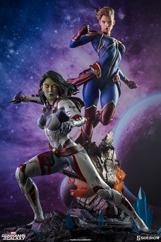 The Gamora Premium Format Figure is now available at Sideshow.com for fans of Marvel Comics and Guardians of the Galaxy,