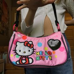 Hello Kitty Clothes, Hello Kitty Purse, Aesthetic Bags, Aesthetic Clothes, Vintage Bags, Vintage Handbags, Indie Kids, Hello Kitty Collection, Cute Bags