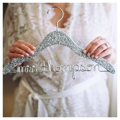 Add some extra sparkle to your big day with this super cute custom glitter…
