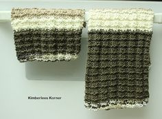 Knitting Pattern Ribbed Dish Towel and by KimberleesKorner on Etsy
