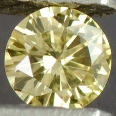 0.08 cts Natural Fancy Yellow Diamond Round Cut Belgium