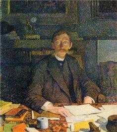 Emile Verhaeren in His Study, 1892  Theo van Rysselberghe