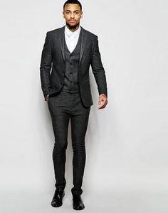 ASOS Super Skinny Suit In Tweed