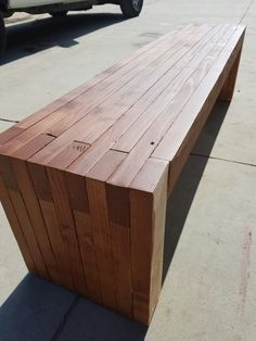 Modern outdoor bench for a great client