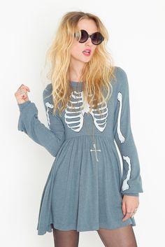 Anatomic Fashion Friday: Wildfox Skeleton Babydoll Dress