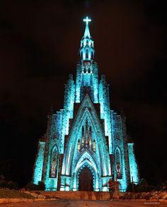 Catedral de Pedra na cidade de Canela , próximo a Gramado , no Rio Grande do Sul.