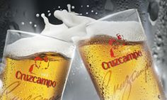 Cruzcampo, the andalusian beer Fresco, Spanish Food, Andalusia, Pint Glass, Beer, Drinks, Tableware, Facebook, Riding Bikes