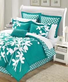 Another great find on #zulily! Turquoise Iris Comforter Set by  #zulilyfinds