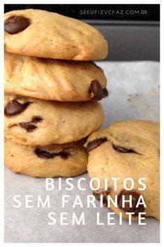 cookies sem farinha, cookies sem leite, biscoito sem leite