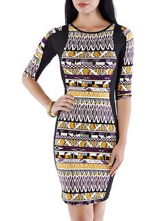 Geo & Nature Midi Dress