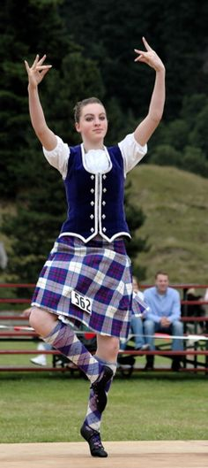 Kilt with royal blue vest #Scotland #Purple #Tartan