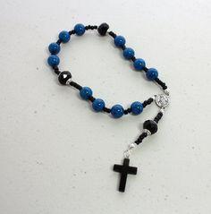 Rosary Bracelet, Chaplet, Prayer Bracelet, Catholic Rosary, Mens Rosary