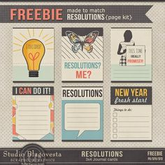 Free Printable Resolutions Journal Cards // Blagovesta Gosheva Blog