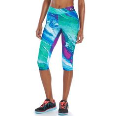 Brilliantly bold. These women's FILA SPORT skimmer pants feature moisture-wicking technology, a soft jersey design and a bright print for a stunning finish. In multi.