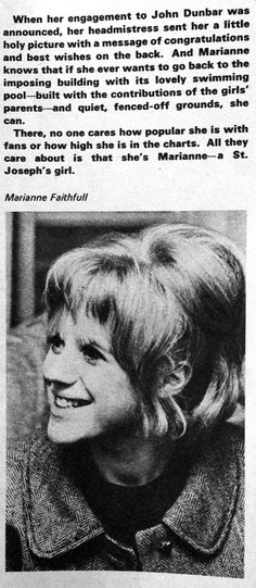 Marianne Faithfull facts in FAB magazine 5th June 1965