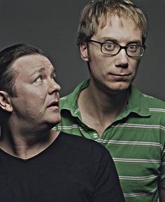 ricky gervais and stephen merchant. I love these men! Extras and The Office BBC are two of my favorite shows