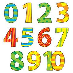 Set of cartoon numbers / vectors illustration for children - Compre este vetor e explore vetores semelhantes no Adobe Stock Doodle Lettering, Lettering Design, Number Vector, Numbers Preschool, Sorting Activities, Teaching Aids, Class Decoration, Coloring Pages, Adobe