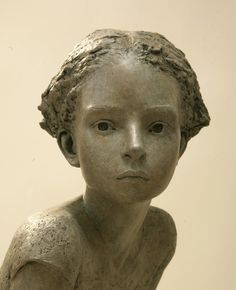 Untitled (bust) by French sculptor Berit Hildre (b.1964). via fernirosso…