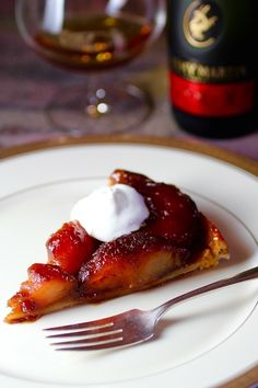 Classic #French Apple Tarte Tatin with Cognac and Crème Fraîche #FallFest #Apples
