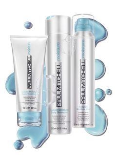 Paul Mitchell Moisture.  Keep silky shine on tap. Quench dry, dull tresses with the deep hydration of Paul Mitchell® Moisture, featuring the Instant Moisture® Complex.