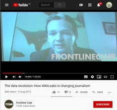 2012 Aug 9: Frontline Club: The data revolution- How WikiLeaks is changing journalism Press Release, Journalism, Donald Trump, Revolution, Presentation, Ads, Change, Club, Writing