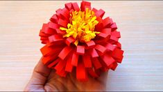 How to make a realistic and easy paper flower (paper flower making - ful...