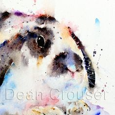 RABBIT Watercolor Print by Dean Crouser