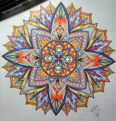 ColorIt Mandalas Volume 1 Colorist: Jacque Phillips #adultcoloring #coloringforadults #mandalas #mandalastocolor