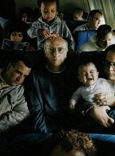 Larry David by Annie Leibovitz - I never saw this one before. Annie is a genius.