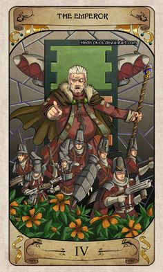 Cerebium Tarot 4 - The Emperor by Hedrick-CS
