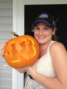 WEEK 1 (Oct. 12, 2012): Congratulations to Heather Brookman for being this week's winner in our Pumpkin Decorating Contest. She won a special Hendrick Motorsports 200th NASCAR Cup win poster and a Jimmie Johnson t-shirt.