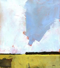 'Barley field' (2013) by British artist Paul Bailey. 7.5 x 8.5 in. via the artist's site