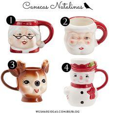 canecas natalinas pottery barn Pottery Barn Christmas, Christmas Mugs, Merry Christmas Typography, Table Settings, Christmas Decorations, Dining Table, Diy, Entertaining, Tableware
