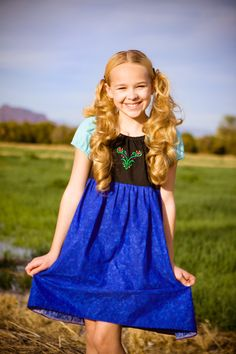 Anna Frozen Dress Disney Princess by ChameleonGirls on Etsy