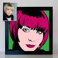 Pop Art Portrait Gemälde Bilder nach Foto malen lassen Geschenkidee Weihnachten Bright Decor, Pop Art Portraits, High Art, Original Image, Retro, Etsy Handmade, Drawings, Artwork, Prints