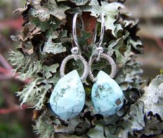 Rare Persian Turquoise sterling silver coil wrap by JPGemJewels, $48.00